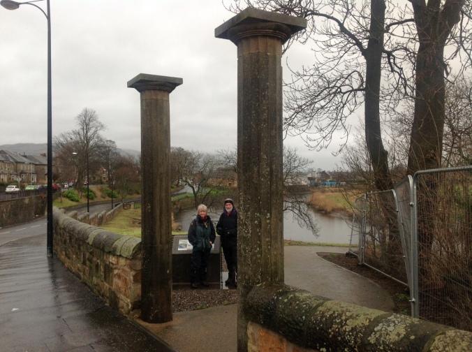 Elaine and Martin admire grand architecture relics.